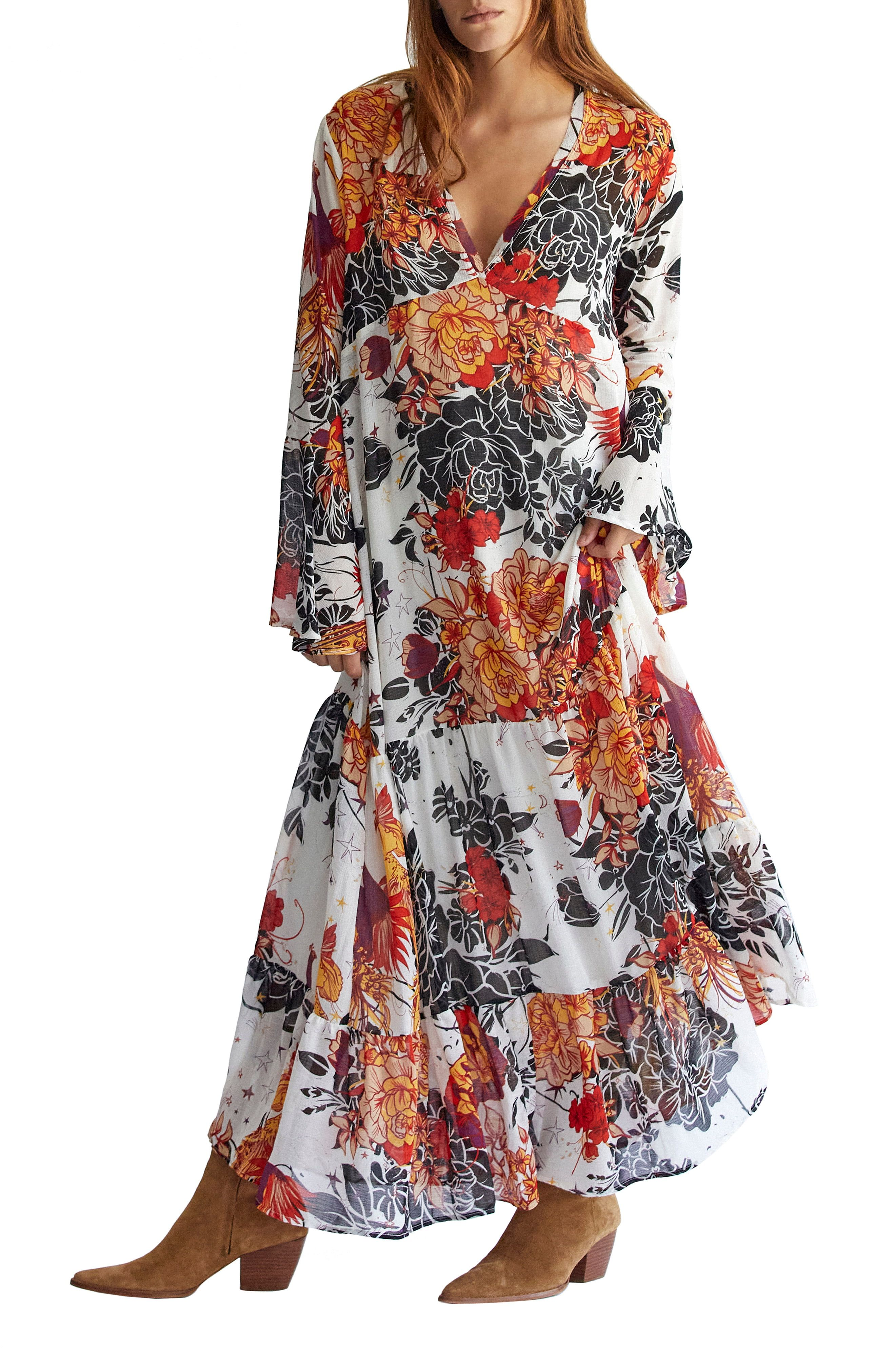 Free People Moroccan Roll Floral Long Sleeve Maxi Dress Nordstrom Free People Maxi Dress Maxi Dress Long Sleeve Floral Maxi Dress [ 4048 x 2640 Pixel ]
