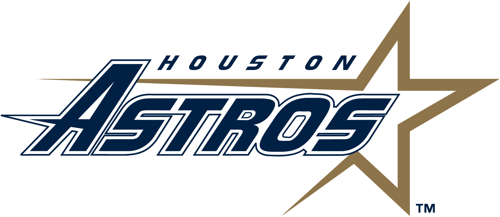 Houston Astros Primary Logo 1995 99 Baseball Xlll