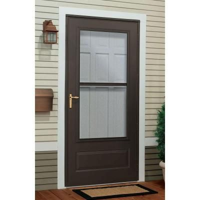 Incroyable 300 Series Bronze Triple Track Storm Door