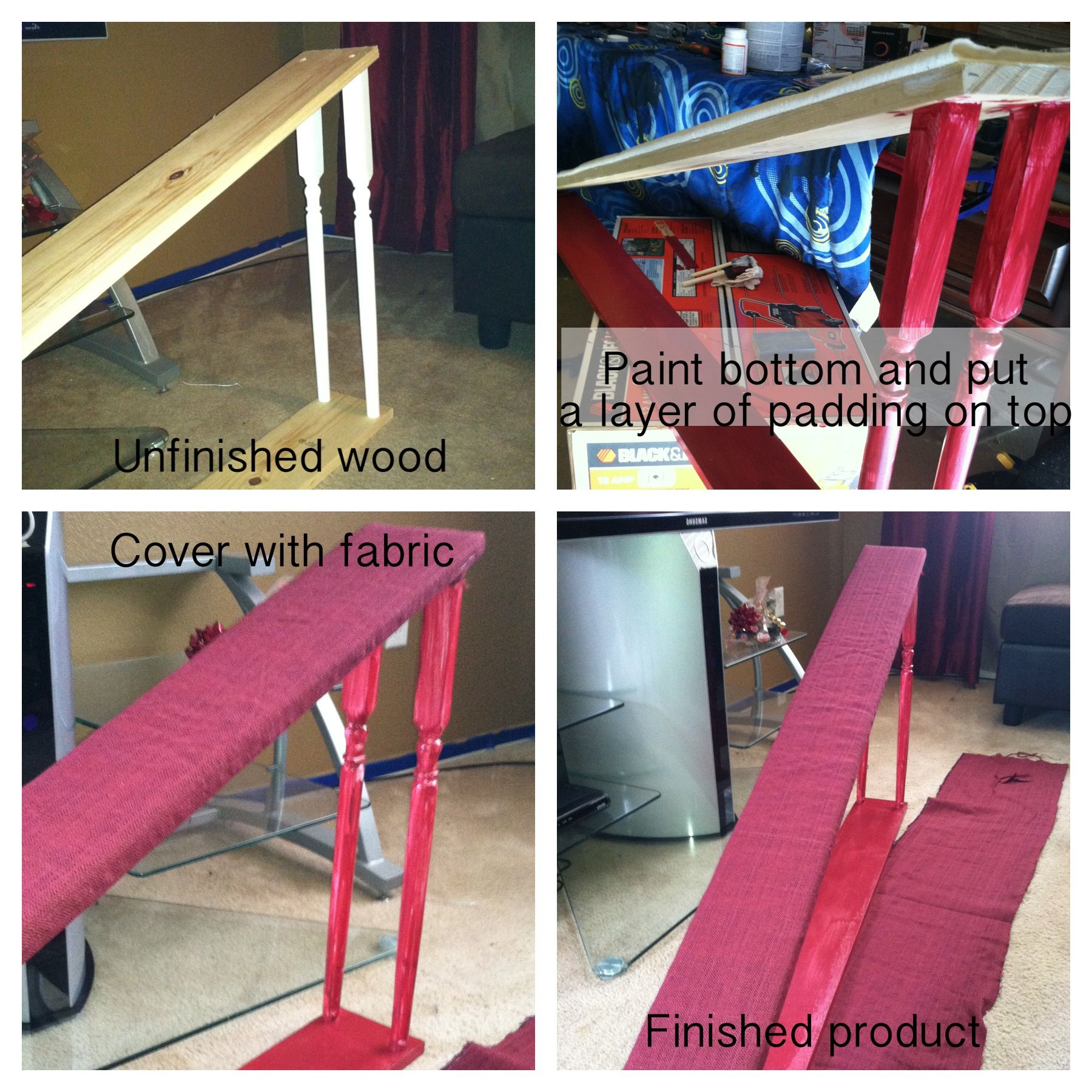 Easy and inexpensive dog ramp. 8 for a pair of 6'wood, 6