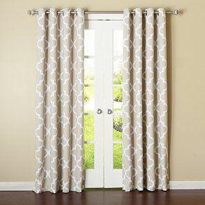 Best Home Fashion Beige Moroccan Printed Room Darkening Grommet Curtains 183cm L - 1 Pair: Amazon.co.uk: Kitchen & Home