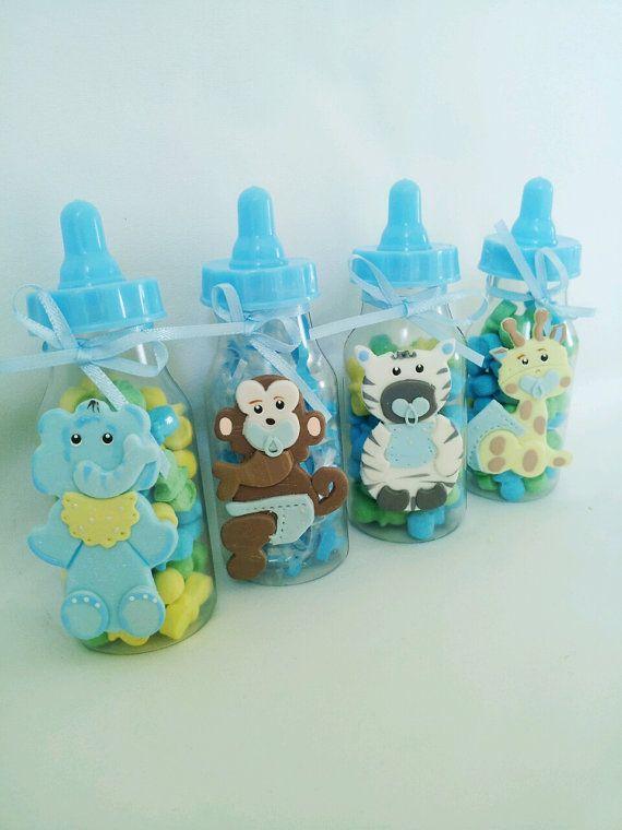 6 JUNGLE SAFARI Party Favor. Baby Bottle Party Favor. Baby Girl Party Favor.  Baby Shower Bags. Baby Boy Party Favor