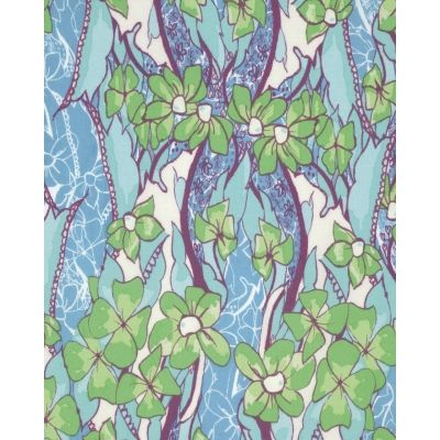 Tina Givens - Feather Flock - Flower Power - Teal