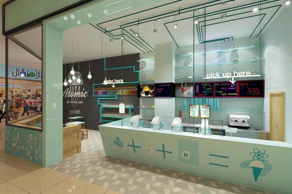 Atomic Ice Cream Labs Dubai Uae Dubai Interior Design