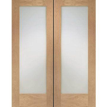 Fd30 Fire Pair Pattern 10 Style Oak Door Pair Clear Glass 1 2
