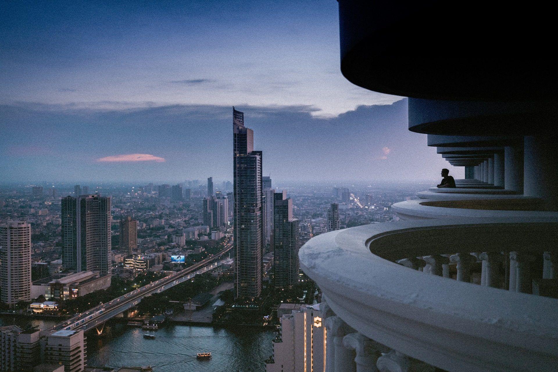 Ciudad, Vistas, Alturas, Edificios, Rascacielos