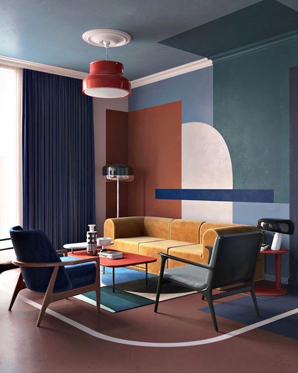Die besten 50 Wohnzimmer - Ideen und Designs Interiors, Vintage