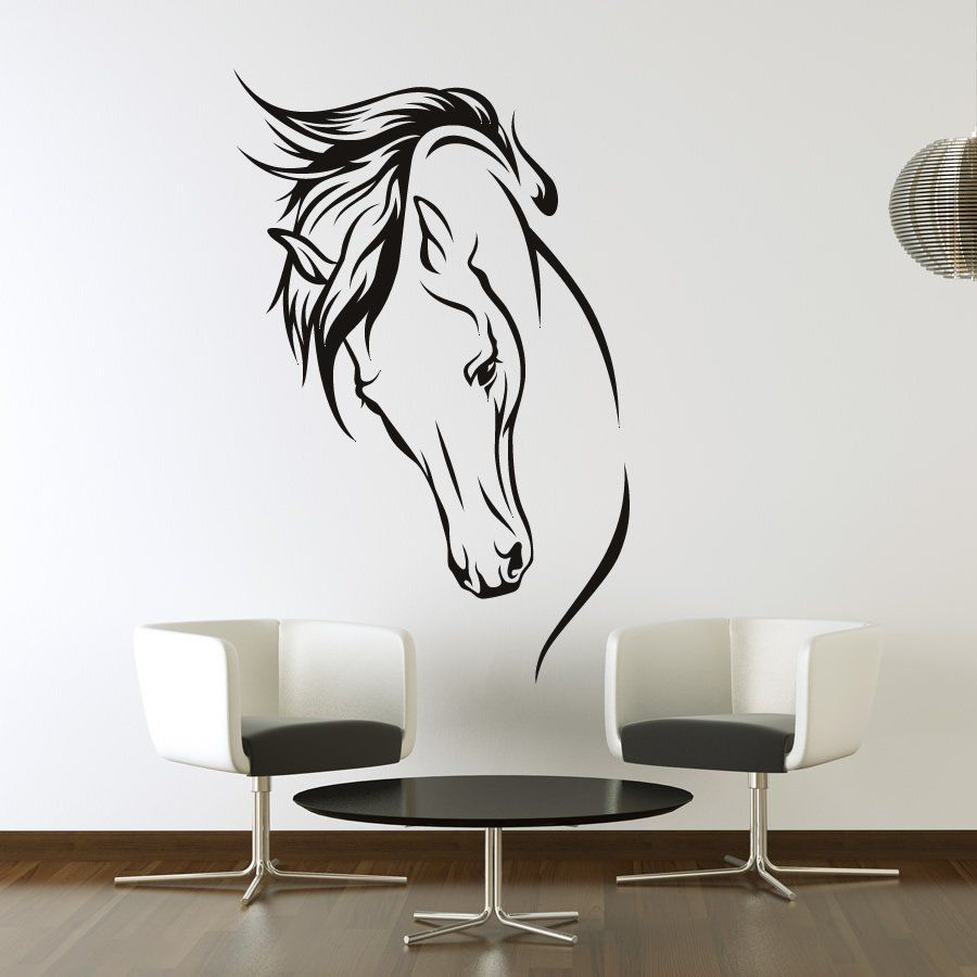 Details about horse rearing animals wall art stickers decal
