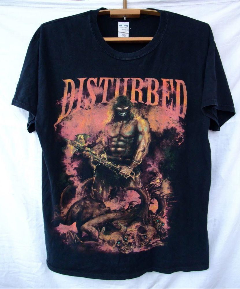 8ceebaa13 t-shirt DISTURBED black size L. #Gildan #GraphicTee | My Polyvore ...
