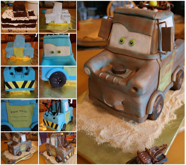 Tow Mater Cake On Pinterest Mater Cake Dumbo Cake And