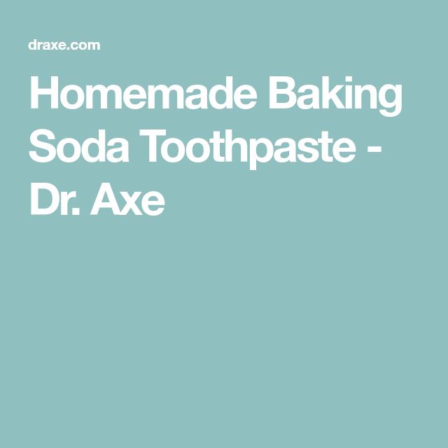Homemade Baking Soda Toothpaste - Dr. Axe