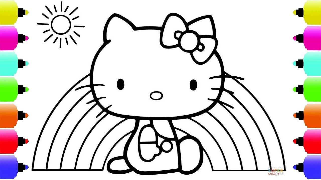 Hello Kitty Paintbox - Hello Kitty Coloring Pages  Cartoon