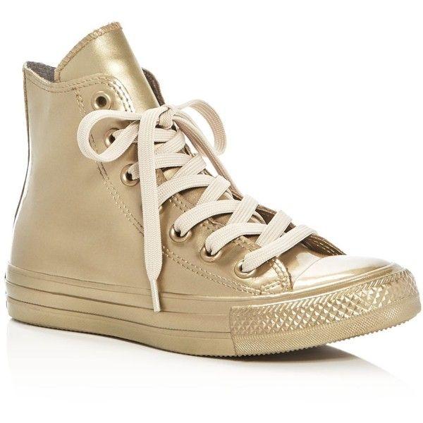 b96c582382f Converse Women s Chuck Taylor All Star Metallic Rubber High Top Sneakers