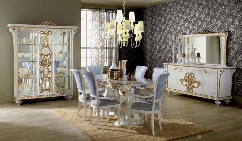 Vitrine 3 trg. Desere weiss gold Luxus Esszimmer | eBay | Ideen rund ...