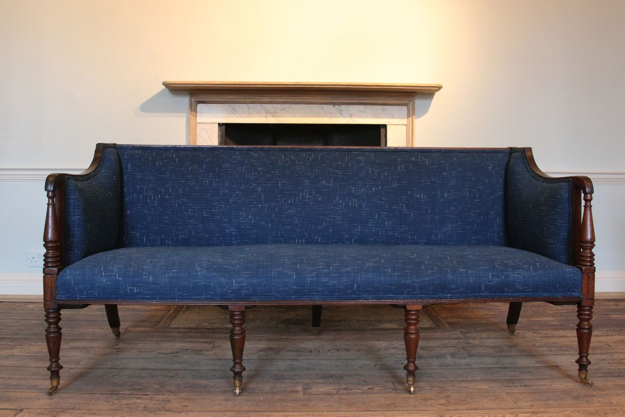 A Fine Quality Early 19th Century English Regency Sofa On Seven Legs Of Elegant Proportions