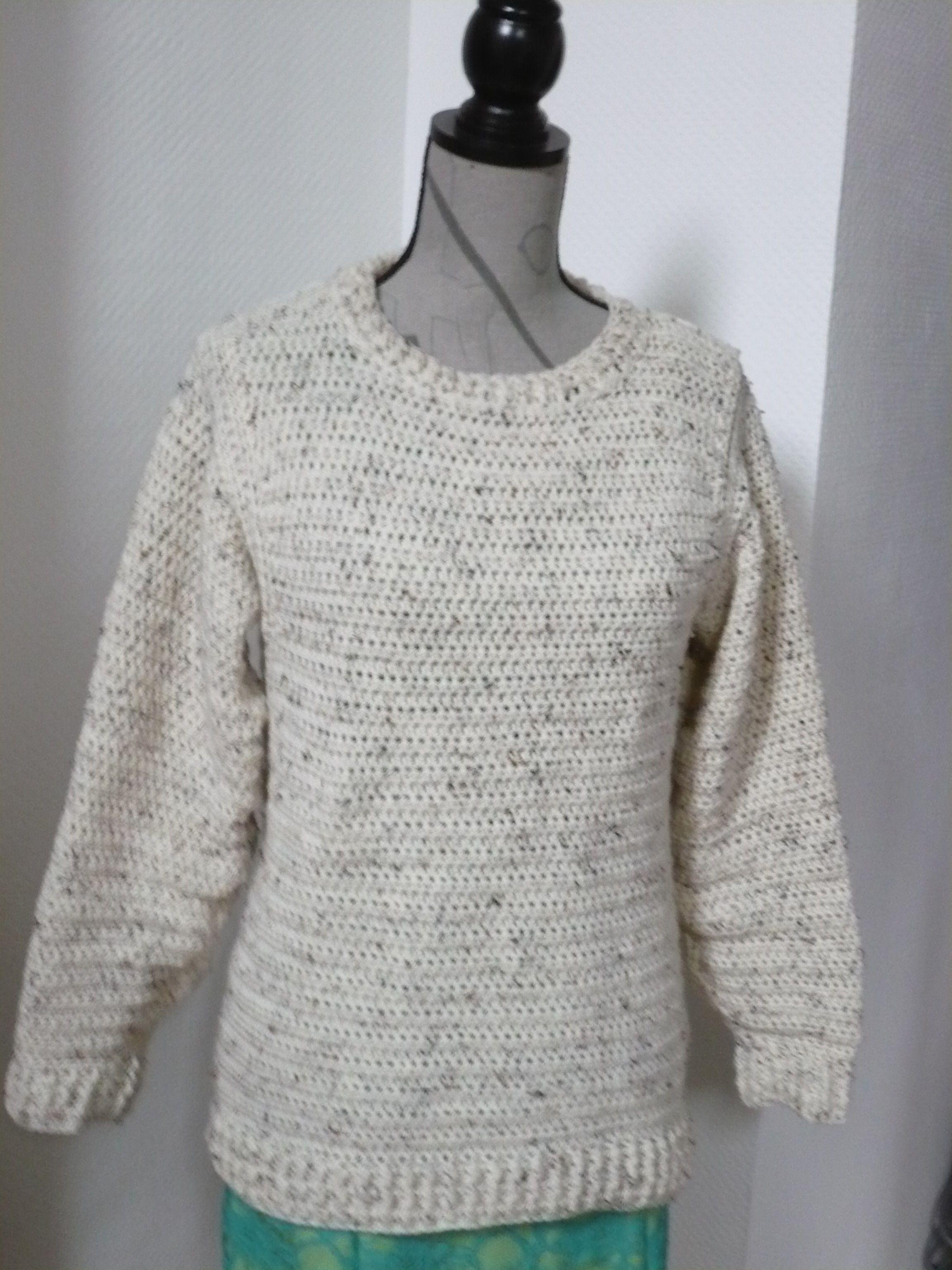 Häkelpullover | Crochet pullover | Häkeln | Pinterest ...