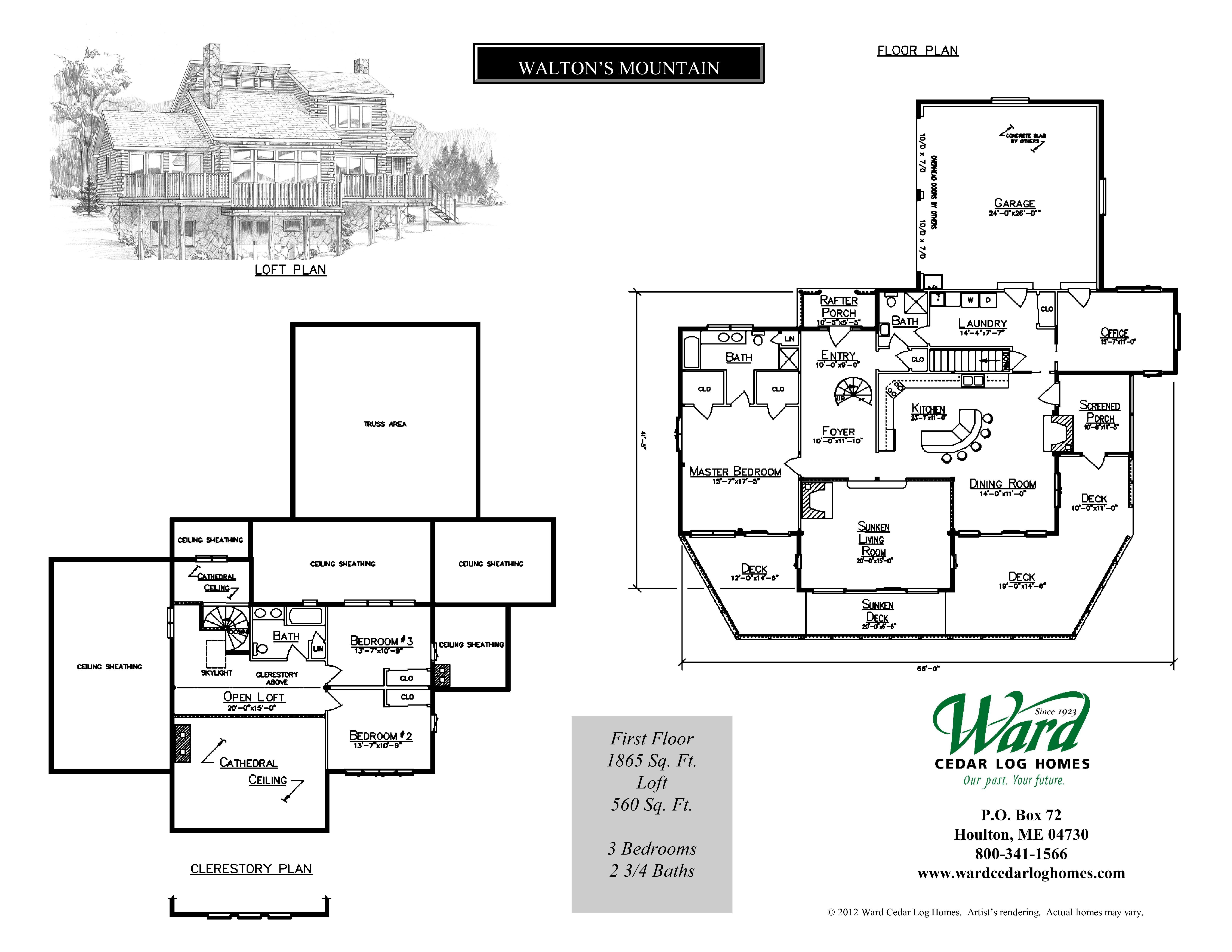 The Walton's Mountain Floor Plan