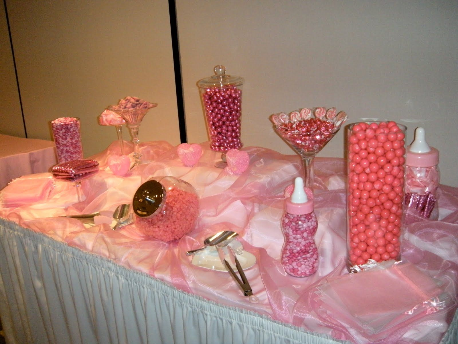 candy buffet ideas Candy by Brandi Pink Candy Buffet
