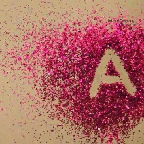 Letter A In Glitter Flower Letters Love Wallpapers Romantic Flower Words