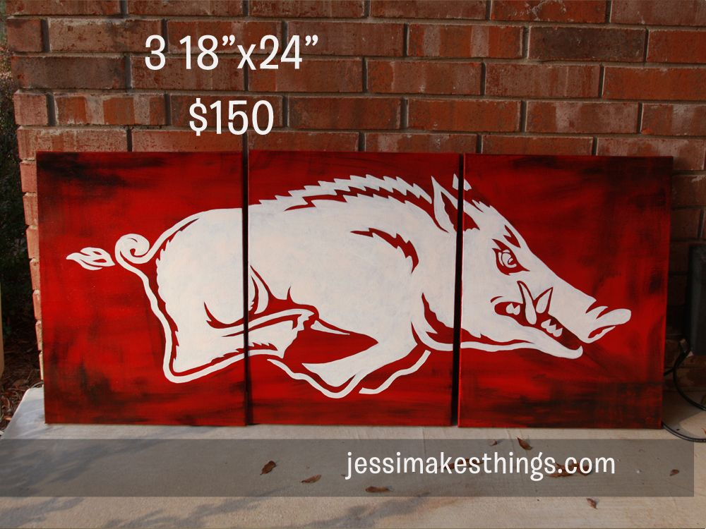 Razorback wall decor for Justin\'s room | For the Home | Pinterest ...