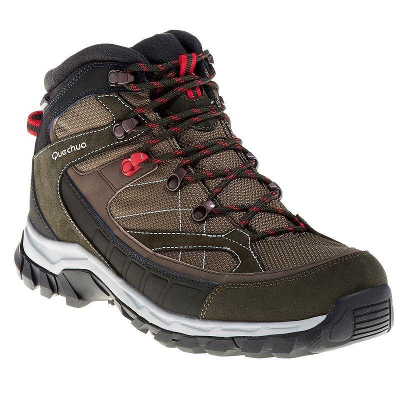 Chaussures De Randonnee Quechua Forclaz 100 High Impermeable Homme