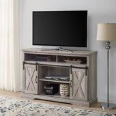 52 Modern Farmhouse TV Stand in Grey Wash  Walker Edison W52HBSBDGW