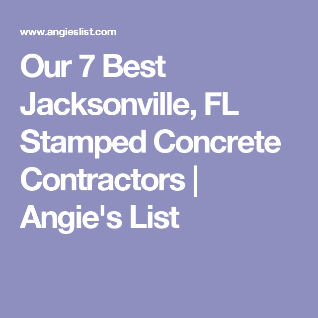 Our 7 Best Jacksonville Fl Stamped Concrete Contractors Angie S