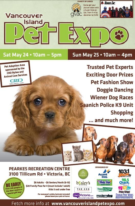 We'll be at the #Vancouver Island Pet Expo this weekend! If you're in the area, stop by and say hello!