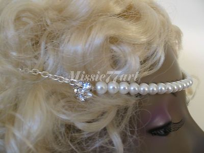 Check out the Glass Pearl Diamante Silver Wedding Circlet Headband Headpiece - one size *NEW  http://www.ebay.com.au/itm/Glass-Pearl-Diamante-Silver-Wedding-Circlet-Headband-Headpiece-one-size-NEW-/160857767156?pt=AU_Wedding_Clothing=item2573debcf4  Just A$59.95