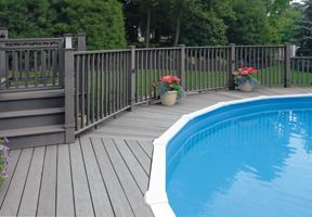 trex above ground pool decks composite decking around an aboveground pool