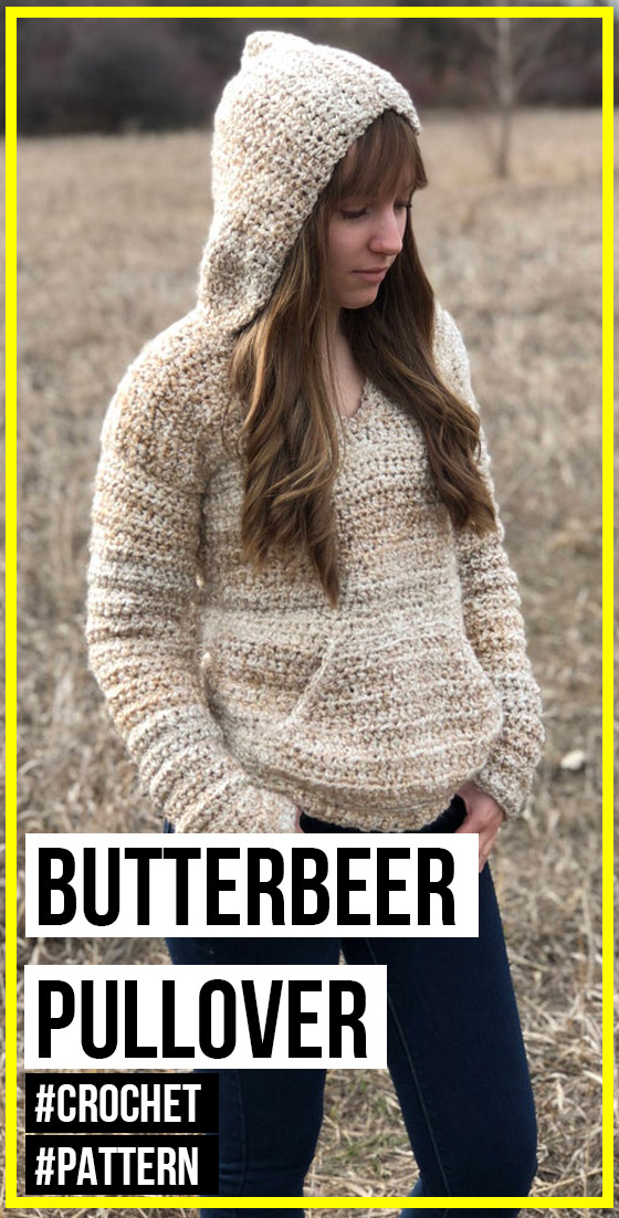 Photo of crochet The Butterbeer Pullover pattern