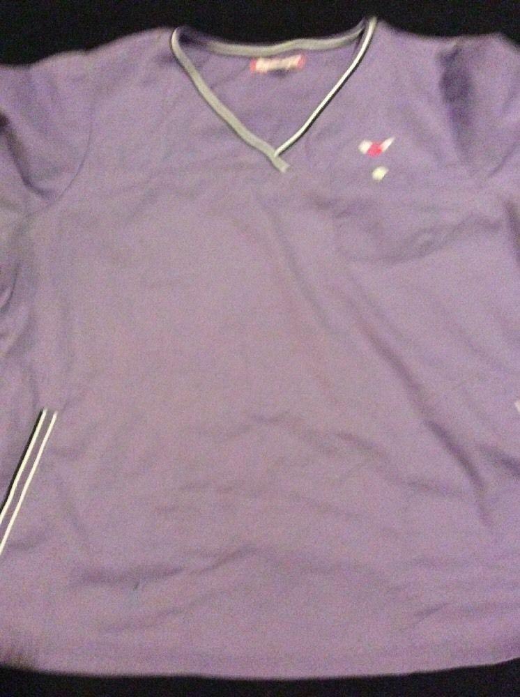 494108aa803 Koi Scrub Top XL Ashley Style Light Purple Navy White 113HRT By Kathy  Peterson #Koi
