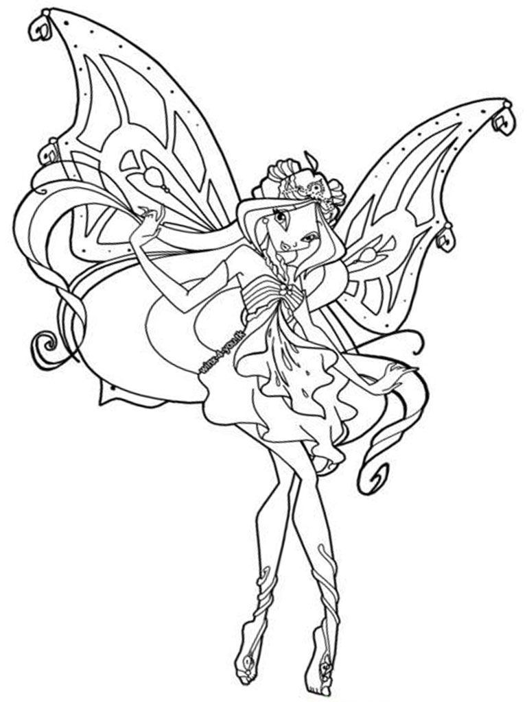 Winx Club Coloring Pages For Girls COLOR FAIRIESANGELS