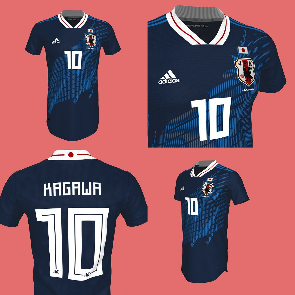 Two Stunning Adidas Japan 2018 Concept Kits By La Casaca Footy Headlines Sports Jersey Design Soccer Jersey Jersey Design
