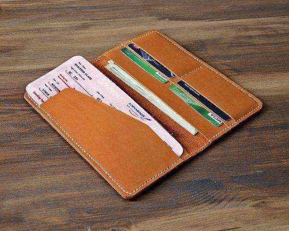 Leather Travel Wallet Travel Passport Holder Ticket Holder Wallet