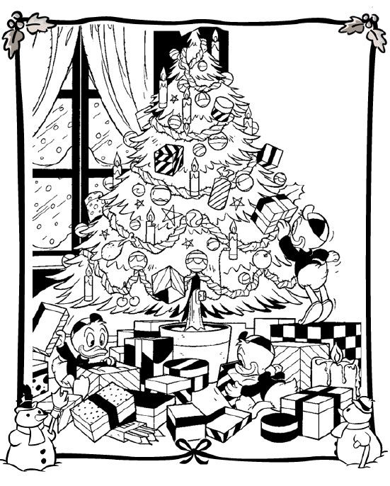 Free Christmas Tree Coloring Page Pages 50 Printable
