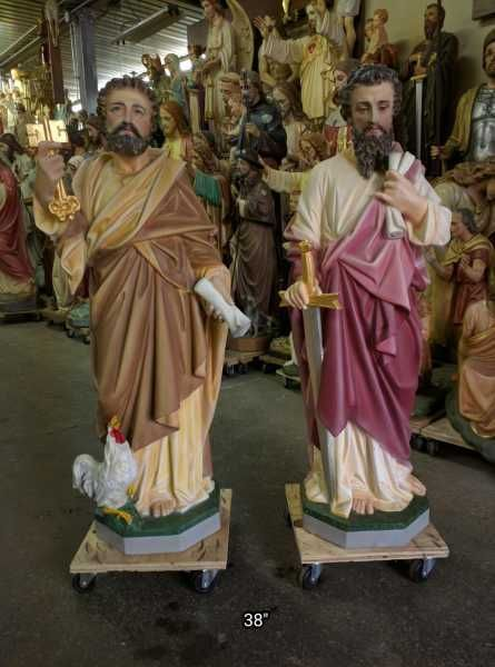 Saint Statues & Statuary - Used Church Items #churchitems Saint Statues & Statuary - Used Church Items