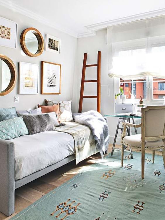 Room Inspiration Shared Office Guest Rooms Guest Room Office Guest Bedroom Office Home Office Guest Room