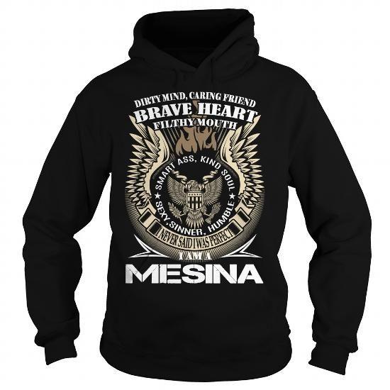 Awesome Tee MESINA Last Name, Surname TShirt v1 T-Shirts