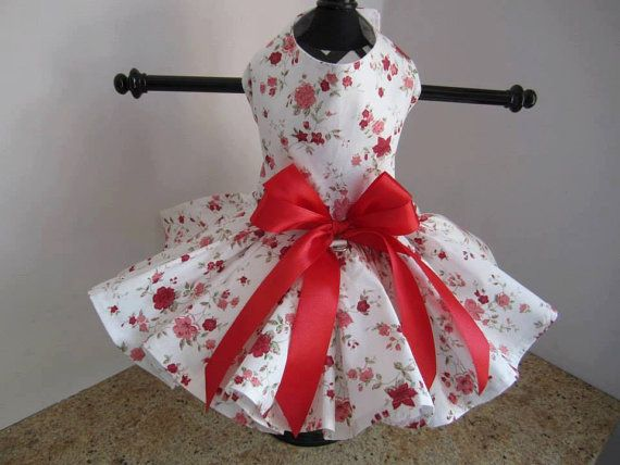 Dog Dress XS Wild Flowers Nina's Couture by NinasCoutureCloset