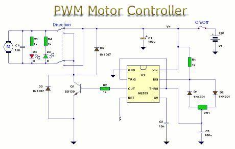9d577b4b94022622f7b5a22a28eb8533 pwm motor control elektron�k pinterest circuit diagram E-Bike Controller 48V Motor Wiring at soozxer.org