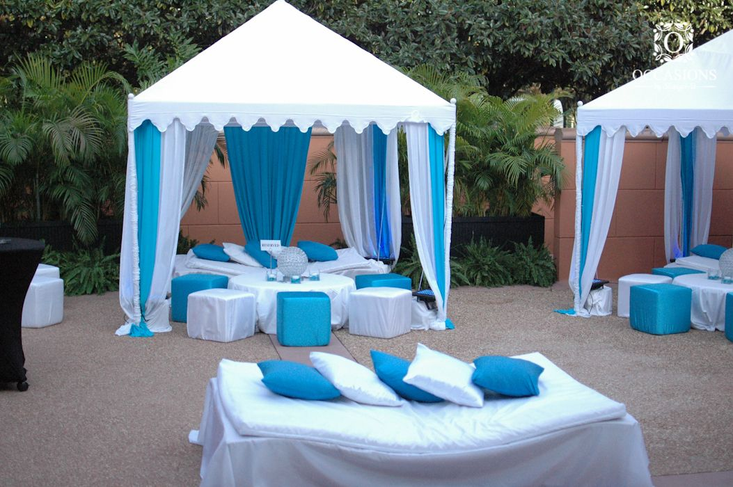 Pool Party tents & Pool Party tents | Wedding Decor | Pinterest | Outdoor cabana ...