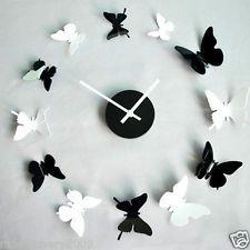 Butterfly Clock Butterfly Wall Decor Sticker Decor 3d