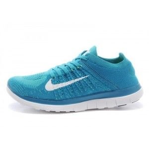detailed pictures 78135 52fb6 Nike Free 4.0 Flyknit Femme Foot Locker Bleu Blanc