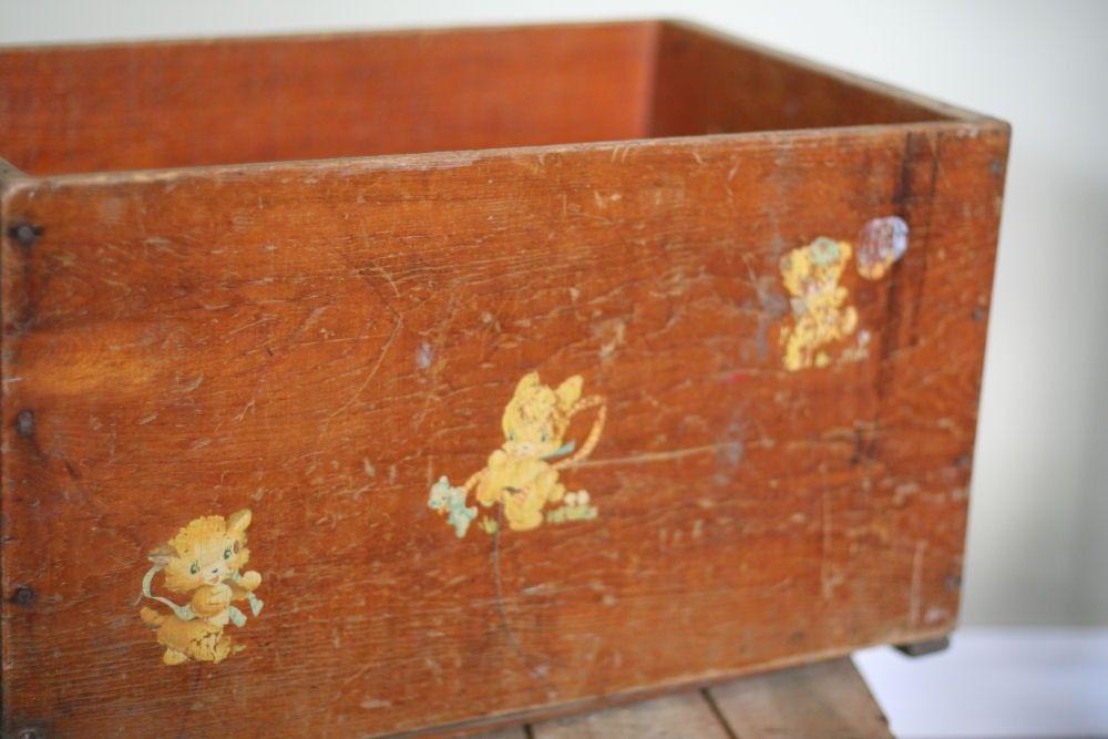 Vintage Wooden Crate Toy Box Vintage Wooden Crates Wooden Crate Toy Boxes