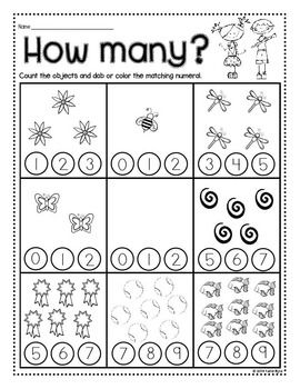 Print and Go! Back to School Math and Literacy (NO PREP ...