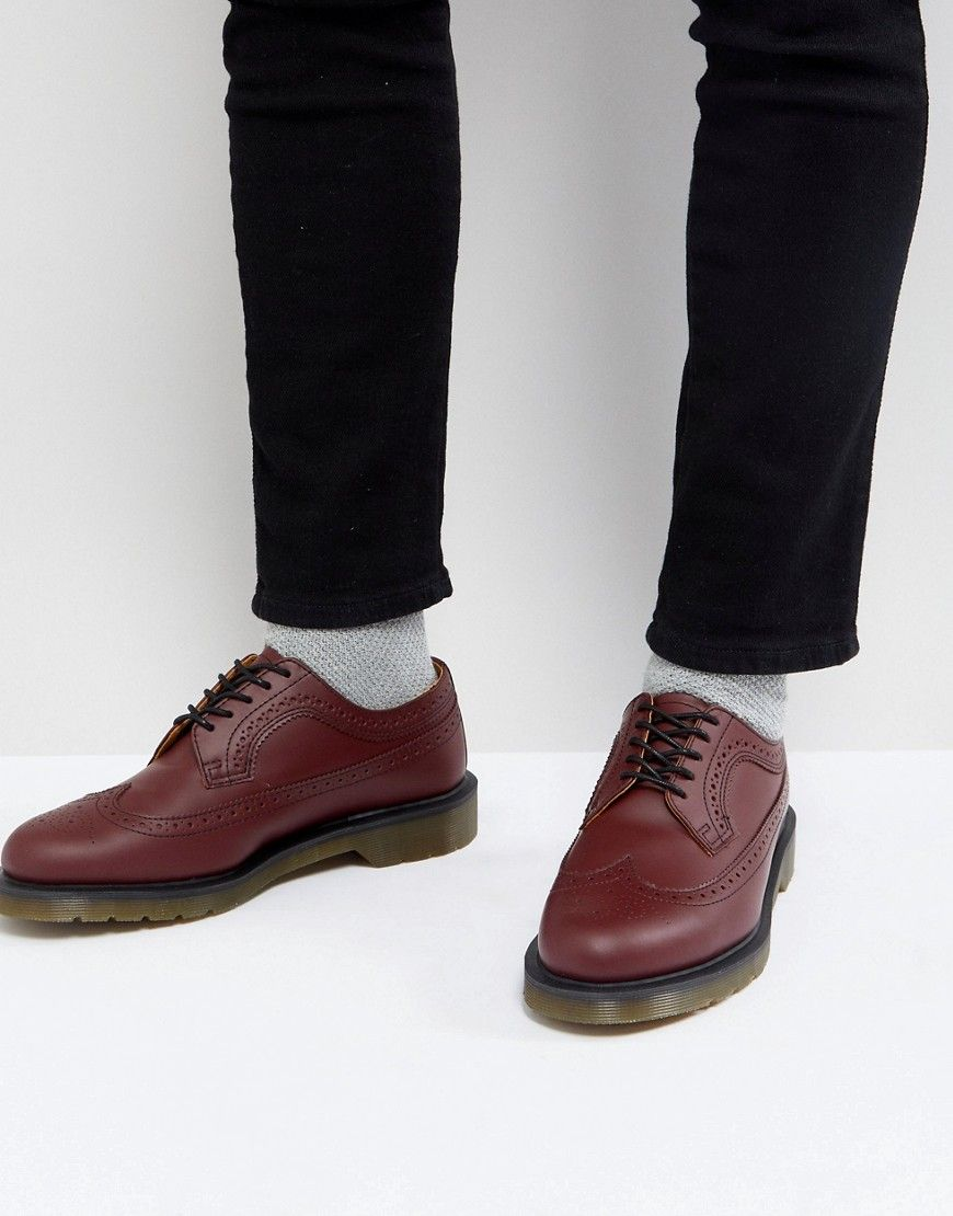 a197debb25 DR. MARTENS 3989 BROGUES IN CHERRY RED - RED. #dr.martens #shoes ...