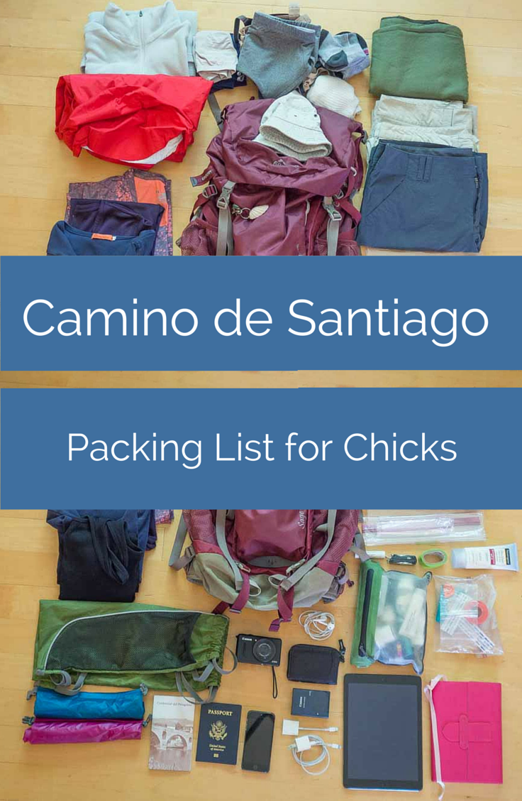 83be016d5ae7 This Camino de Santiago packing list for women will give the adventurous  pilgrim everything she needs to pack for the Camino.
