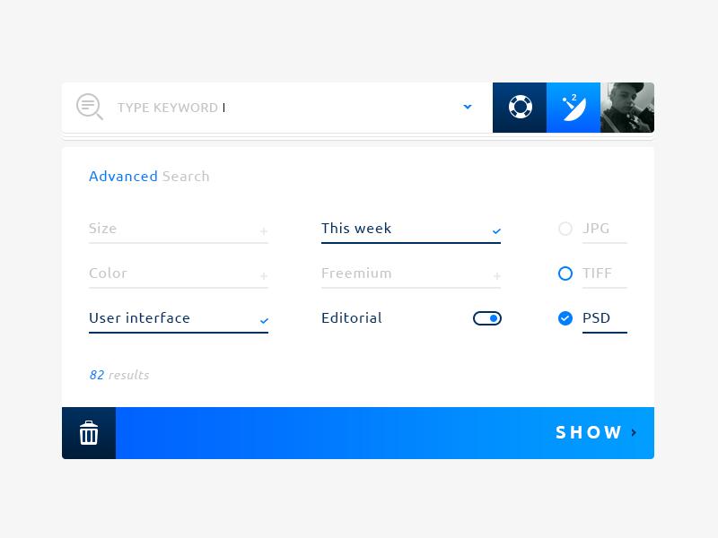 Freebie: Advanced Search @Rebound #Freebies Elements UI kit - http ...