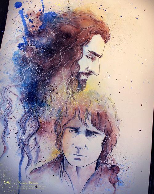kinko-white: Farewell, good thief… Thorin&Bilbo http://kinko-white.deviantart.com/ This is so damn beautiful!